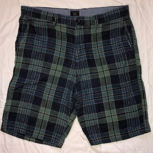 J. Crew men's Linen Cotton Blend plaid short